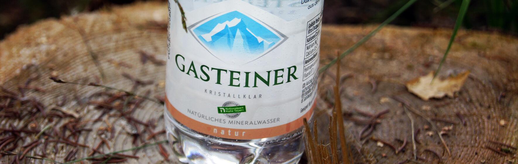 Gasteiner Mineralwasser auf Baumstamm, Geschichte